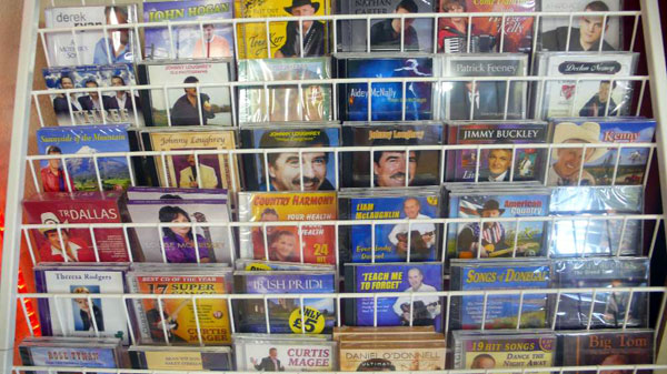 A range of local country and Irish music CDs and DVDs at the new Music City shop located at Dungannon Enterprise Centre.