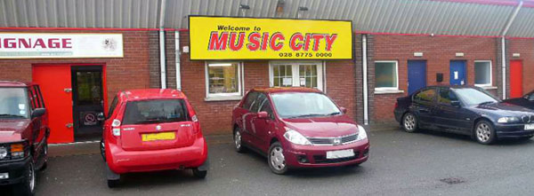 Music city shop at Dungannon enterpise centre